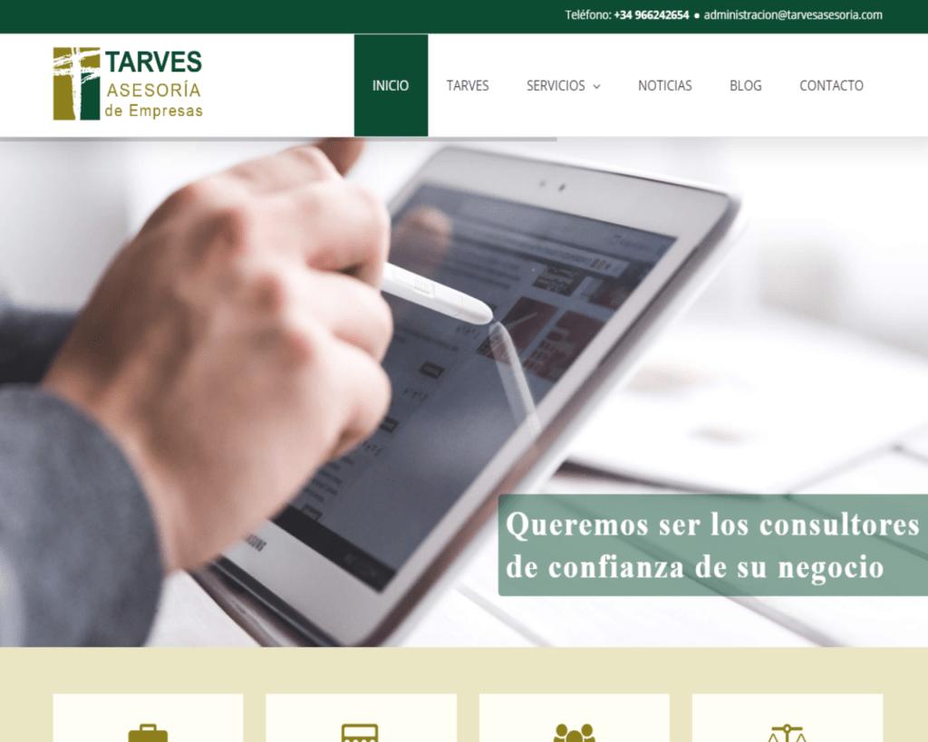 Pantallazo Tarves asesoria